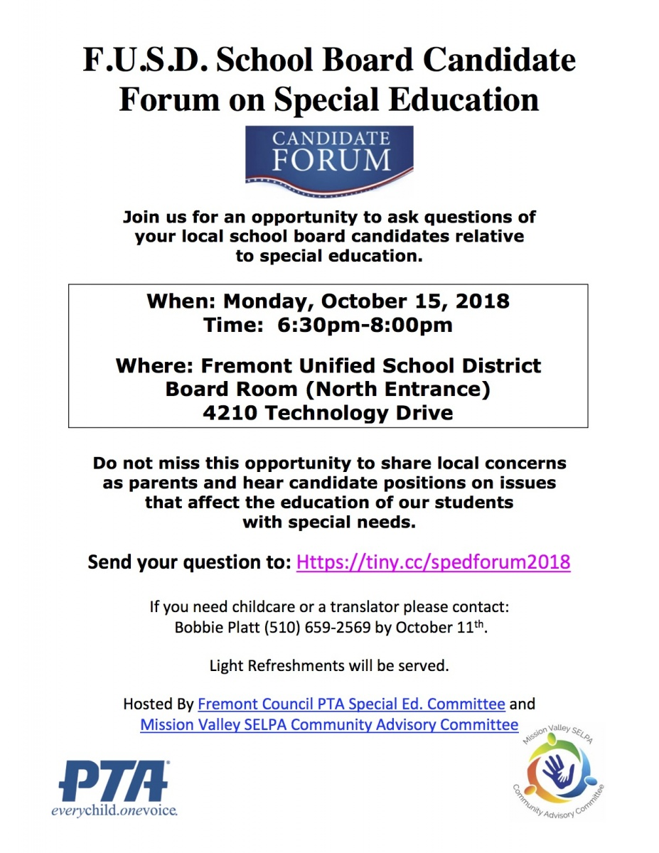 Why Does Special Education Have To Be >> Special Education Committee Fremont Council Pta